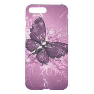 beautiful  purple buterfly swirl lines vector art iPhone 7 plus case