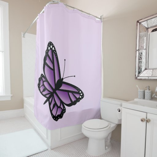 Curtains Ideas butterfly shower curtain : Beautiful Purple Butterfly Shower Curtain | Zazzle