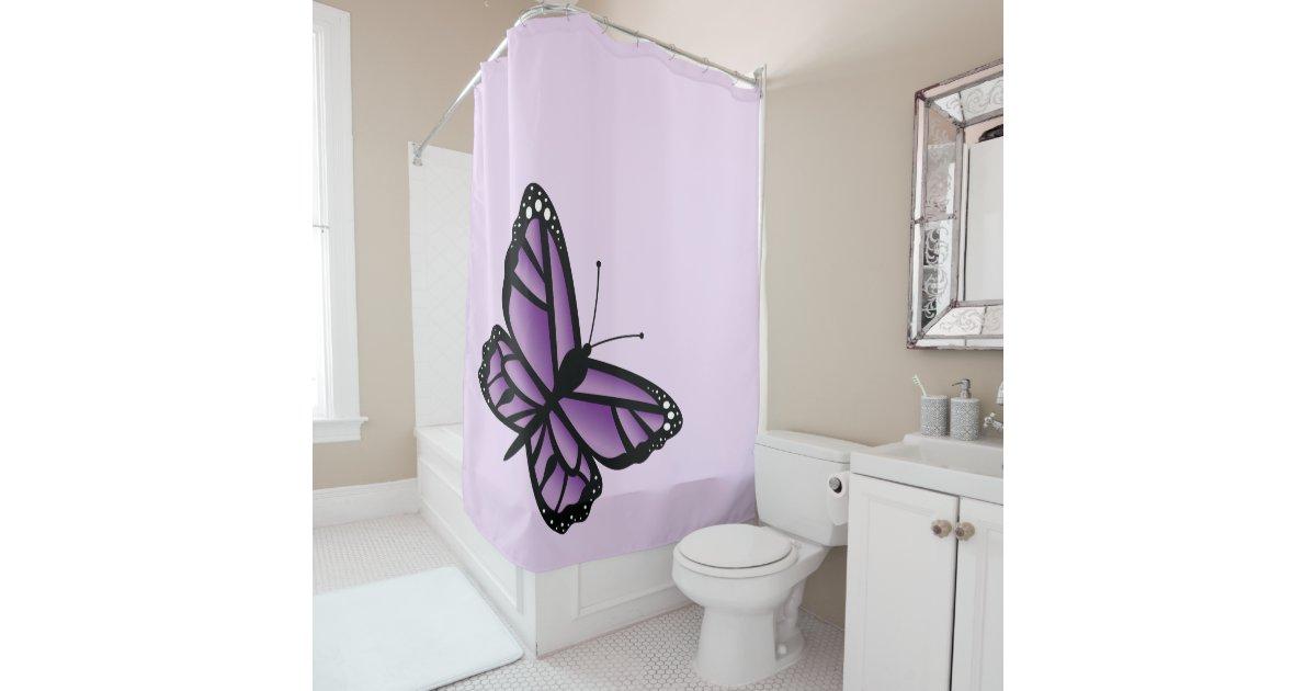 Beautiful Purple Butterfly Shower Curtain | Zazzle.com