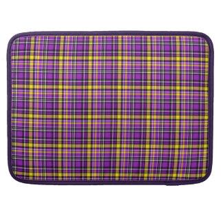 Beautiful purple checkered Pattern MacBook Pro Sleeve
