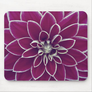 Beautiful purple dahlia flower blossom mouse pad