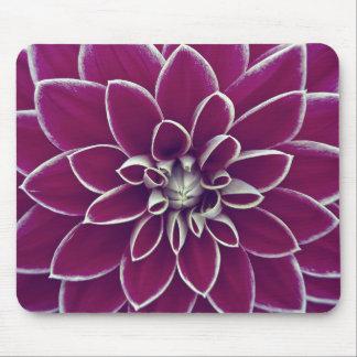Beautiful purple dahlia flower blossom mouse pad