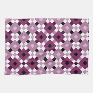 Beautiful Purple Diamond Pattern Kitchen Towel
