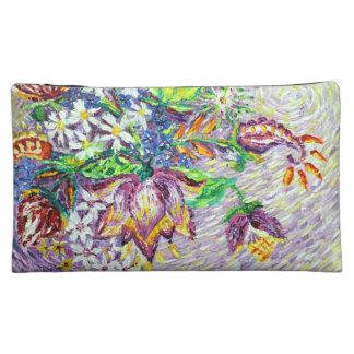 Beautiful Purple Flower Abstract Art Cosmetic Bag