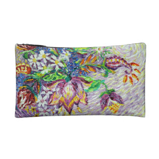 Beautiful Purple Flower Abstract Cosmetic Bag