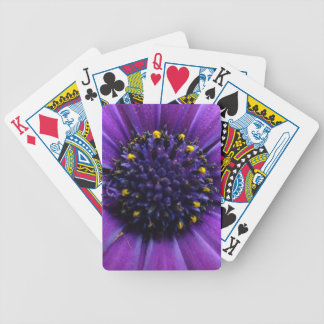 Beautiful Purple Flower Center Bicycle Playing Cards