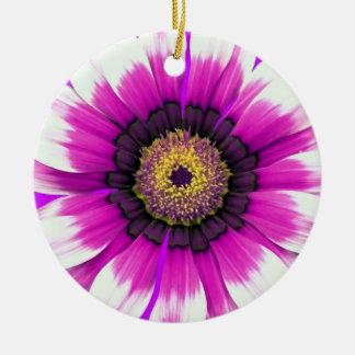 Beautiful purple flower ceramic ornament