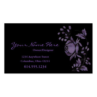 Beautiful Purple Flower Design Business Cards