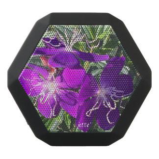 Beautiful purple flowers on Bluetooth Speaker