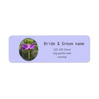 Beautiful purple garden flower address labels
