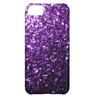 Beautiful Purple glitter sparkles iPhone 5C Covers