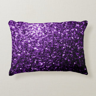 Beautiful Purple glitter sparkles Decorative Pillow