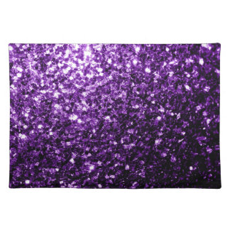 Beautiful Purple glitter sparkles Place Mat