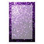 Beautiful Purple glitter sparkles Stationery