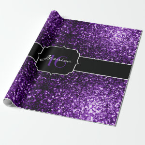 Beautiful Purple glitter sparkles  Wrapping Paper