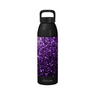 Beautiful Purple glitter sparkles Water Bottle