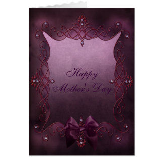Beautiful Purple Gothic Frame Mother's Day Card