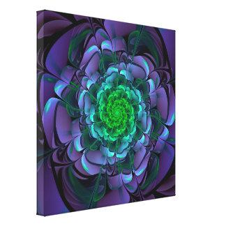 Beautiful Purple & Green Aeonium Arboreum Zwartkop Canvas Print