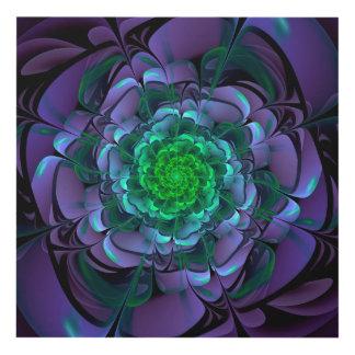 Beautiful Purple & Green Aeonium Arboreum Zwartkop Panel Wall Art