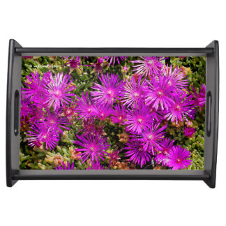 Beautiful Purple Iceplants Serving Tray
