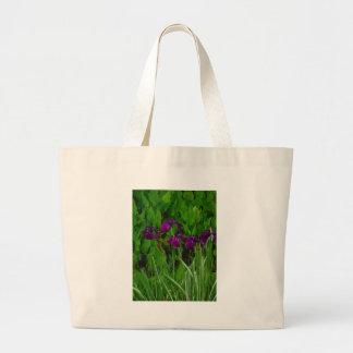 Beautiful Purple Iris Canvas Bags