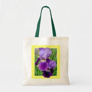 Beautiful Purple Iris Bag 2