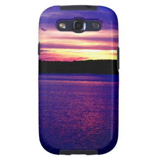 Beautiful Purple Lake Sunset Galaxy SIII Case