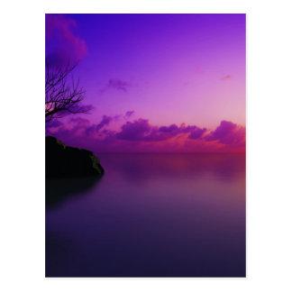 beautiful purple landscape postcard