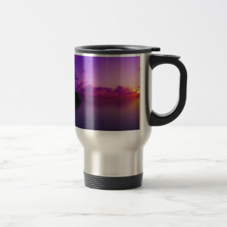 beautiful purple landscape travel mug