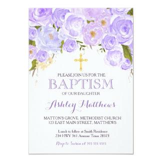 Beautiful Purple Lavender BAPTISM Invitation