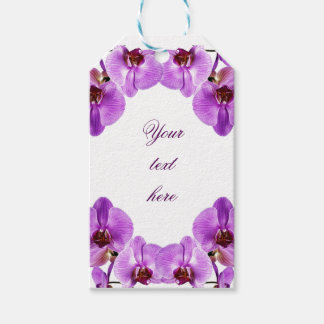 Beautiful purple orchids phalaenopsis pack of gift tags