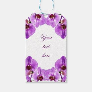 Beautiful purple orchids phalaenopsis gift tags
