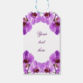Beautiful Purple Orchids Phalaenopsis Gift Tags by justbecauseiloveyou at Zazzle