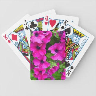 Beautiful purple petunias print bicycle playing cards
