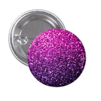 Beautiful Purple Pink Ombre glitter sparkles Button