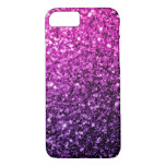 Beautiful Purple Pink Ombre glitter sparkles iPhone 7 Case