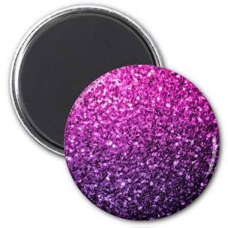 Beautiful Purple Pink Ombre glitter sparkles Magnet