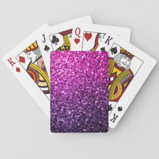 Beautiful Purple Pink Ombre glitter sparkles Playing Cards