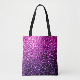 Beautiful Purple Pink Ombre glitter sparkles Tote Bag