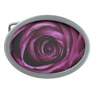 Beautiful Purple Rose Flower Petals Girly Gifts Oval Belt Buckle