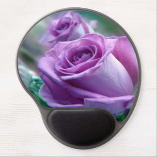 Beautiful purple roses design gel mouse pad