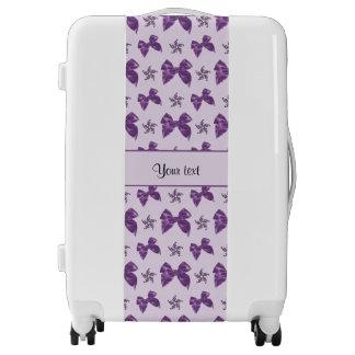 Beautiful Purple Satin Bows Luggage