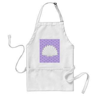 Beautiful Purple Scallop Shell Repeating Patt Apron