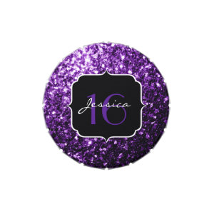 Beautiful Purple sparkles  Candy tin