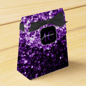 Beautiful Purple sparkles  favor box