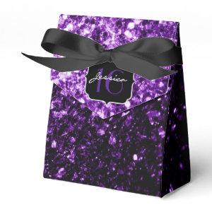 Beautiful Purple sparkles  favor box