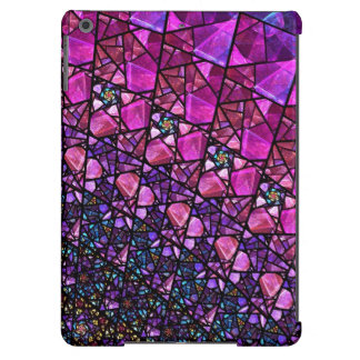 Beautiful Purple Stained Glass Pattern Case Cover For iPad Air