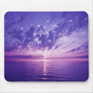 Beautiful purple sunset mouse pad