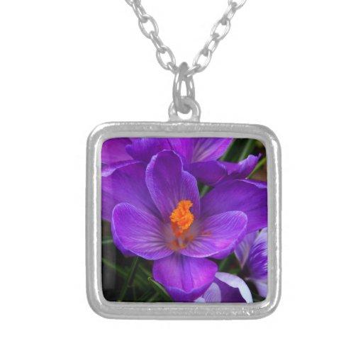 Beautiful Purple Tulip Flowers Pendant