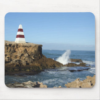 Beautiful Pyramid Light House With Red Strips Mouse Pad